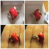 Акция к 8 Марта! Шикарное серебряное кольцо серебро 925пр.+ золото 375 пр. Новое с биркой!