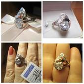 Акция к 8 Мрта!Шикарное серебряное кольцо- серебро 925пр.+золото 375 пр.Новое с биркой!