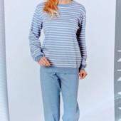 Качественная женская пижамка из Германии. Натуральный хлопок. Очень мягенькая. Размер 56/58 eur