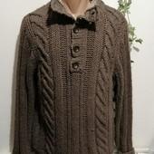 Мужской теплый шерстяной свитер Next размер м на 46-50