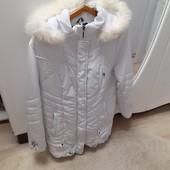 Демисезонная куртка-Белоснежка,р.54-56