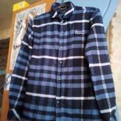 тёплая рубашка на мальчика без дифектов замеры в описании