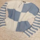 шикарный укороченный свитер крупная вязка модель 2021