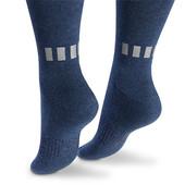 ☘Лот 1 пара☘ Велосипедні шкарпетки з біо-бавовни з відбивачами, Tchibo (Німеччина), 35-39, синій
