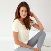 Идеальная мягусенькая футболка: 66% полиакрил и 29% вискоза !!! от Tchibo размер 44 евро=50-52