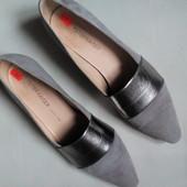 Свето серые ,замшевые √√ лёгкие туфельки без каблучка √√ отличное качество от Peter Kaiser .Германия