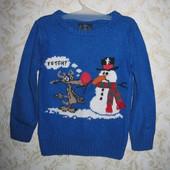 Мягусенький свитер с светящимся шаром на 3-4 года, Next