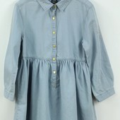 Платье Zara с заклёпками в джинсовом стиле.