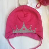 Новые красивые шапочки для принцесс на флисике 80 (ог 48-49) C&A Германия. Качество супер.