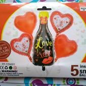 """набор фольгированных шаров """"love"""""""
