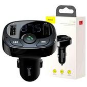 Качественный трансмиттер автомобильное зарядное устройство вольтметр Baseus S-09A