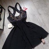 Клёвое платье с при открытой спинкой расшито бисером