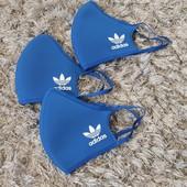 Оригінал.Багаторазові захисні маски Adidas 3шт. Розмір S.