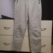 Котоновые, бежевые, укороченные брюки Atmosphere p. 12/L