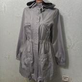 Шикарная серебрянная куртка парка дождевик Новая Акция читайте