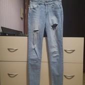 Стильные, стрейчевые джинсы Pull&Bear p. 26/xs-S