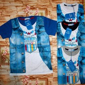 Модная футболка с имитацией на мальчишек 146-164 р