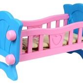 НП бесплатно Кроватка для куклы пупса Технок 4173 колыбель люлька кровать