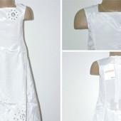 НП бесплатно Новое белое платье 11-14лет ориентируйтесь на замеры сарафан