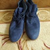 Муж. ботинки нат. замш   44р.