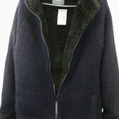 Тёплая куртка-кофта. Вязаная толстовка на меху