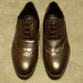 Asos мужские туфли броги коричневого цвета