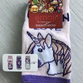 Распродажа!!! 3 пары новые носочки носки Emoji р.23-26