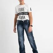 Стильные джинсы на мальчиков подростков. Размер 24-30