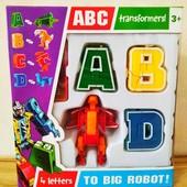 Буквы -трансформеры,4 шт | Алфавит | Робот-трансформер | Lingvo zoo | ЗооботыТрансботы