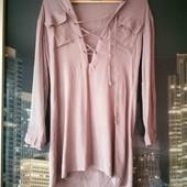 Модная рубашка, удлинённая
