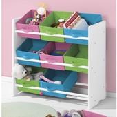Яркий и практичный стеллаж-органайзер с ящиками для детской комнаты Livarno Living