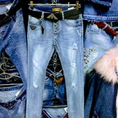 Новые стрейчевые турецкие джинсы р. 29 на бёдра 92-96, поб 43 см