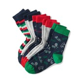 ⚙ Лот 5 пар⚙ Для хлопчика-якісні шкарпетки з органічної бавовни, Tchibo (Німеччина), розмір: 31-34