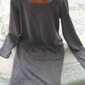 Платье трикотажное до колен М-L