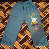 Теплые махровые штаны на 1,5 - 2 года