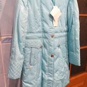 Красивое голубое пальтишко на холодную осень теплую зиму