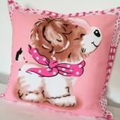 Милая, мягкая забавная декоративная подушка!