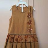 Платье, сарафан вельветовый на 1 год