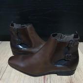 Ботинки із натуральної шкіри зовні і всередині 41 рр і устілка 28,5 см з носиком.