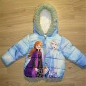 Теплая куртка Дисней на 2-3годика рост 98