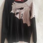 Тонкий весенний свитер с орнаментом, вискоза