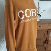 Натуральный утепленный горчичный свитшот свитер. 100% хлопок