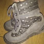 Демисезонные ботиночки. Натуральный замш. Размер 26