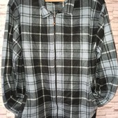 Плюшева кофта-сорочка з карманами.Розмір 3xl.