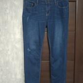 Фирменные красивые джинсы-царапки стрейч в отличном состоянии р.14-16