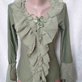 Много лотов! Стильная блуза с шифоном, остатки после закрытия магазина