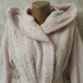 Меховой халат с капюшоном