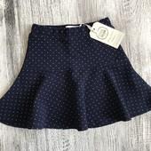 Cool Club отличная нарядная юбка в горошек р.116