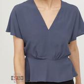 элегантная блуза из креп ткани H&M