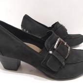 """=Мегаудобные туфли """"Tomaris"""" р-37, 24см, 100%-Кожа!!! (уп-10%)"""